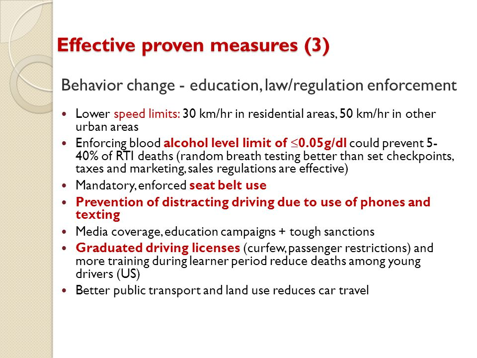 Effective proven measures (3)