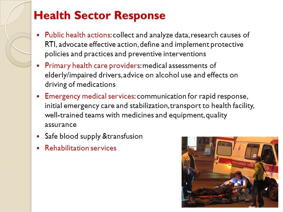Health Sector Response
