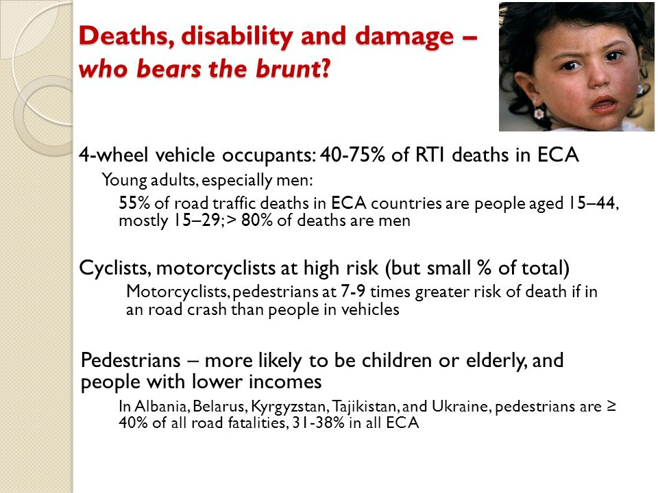 Deaths, disability and damage – who bears the brunt