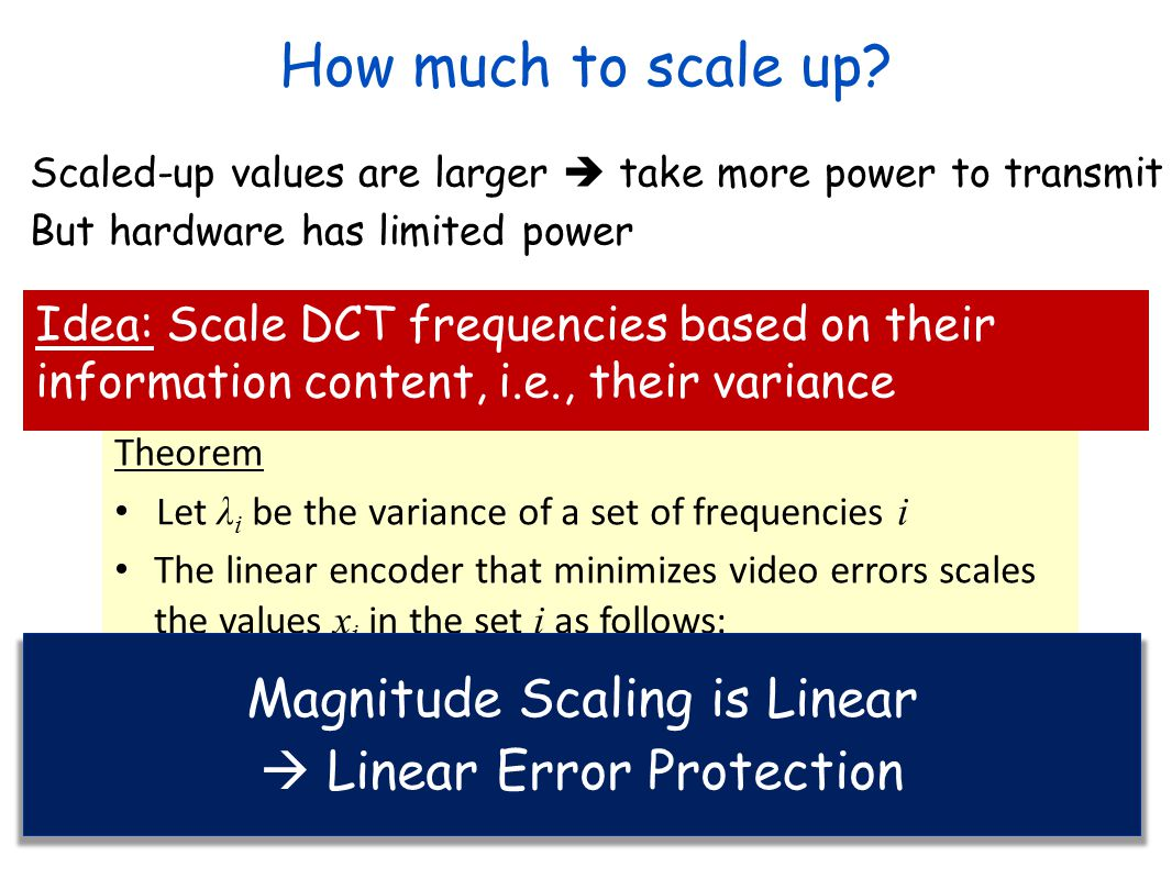 How much to scale up Magnitude Scaling is Linear