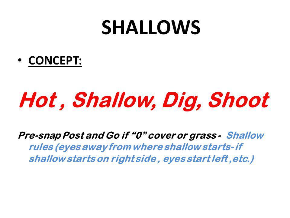 SHALLOWS Hot , Shallow, Dig, Shoot CONCEPT: