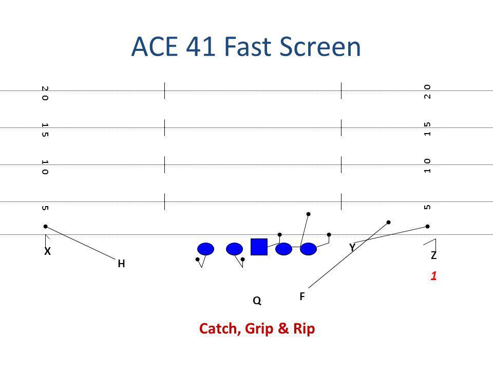 ACE 41 Fast Screen Catch, Grip & Rip 1 Y X Z H F Q 2 0 2 0 1 5 1 5 1 0