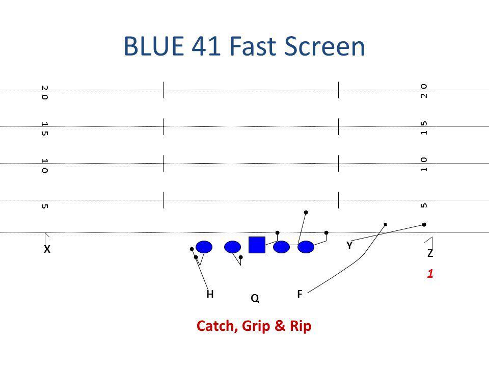BLUE 41 Fast Screen Catch, Grip & Rip 1 Y X Z H F Q 2 0 2 0 1 5 1 5