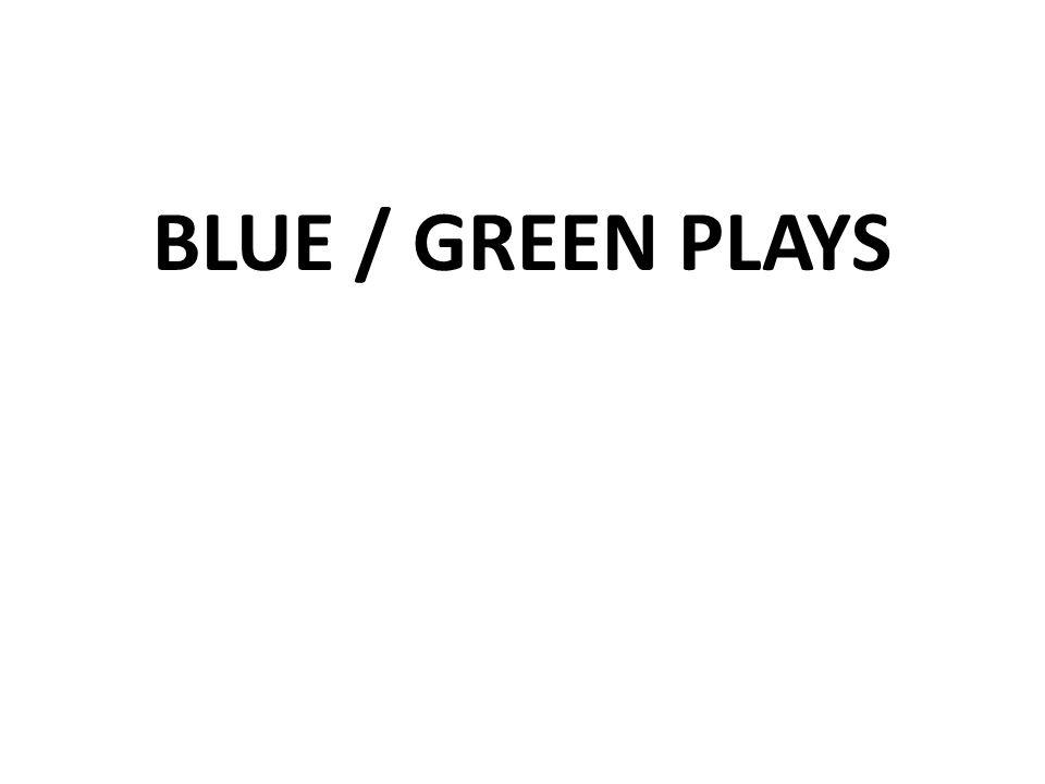 BLUE / GREEN PLAYS