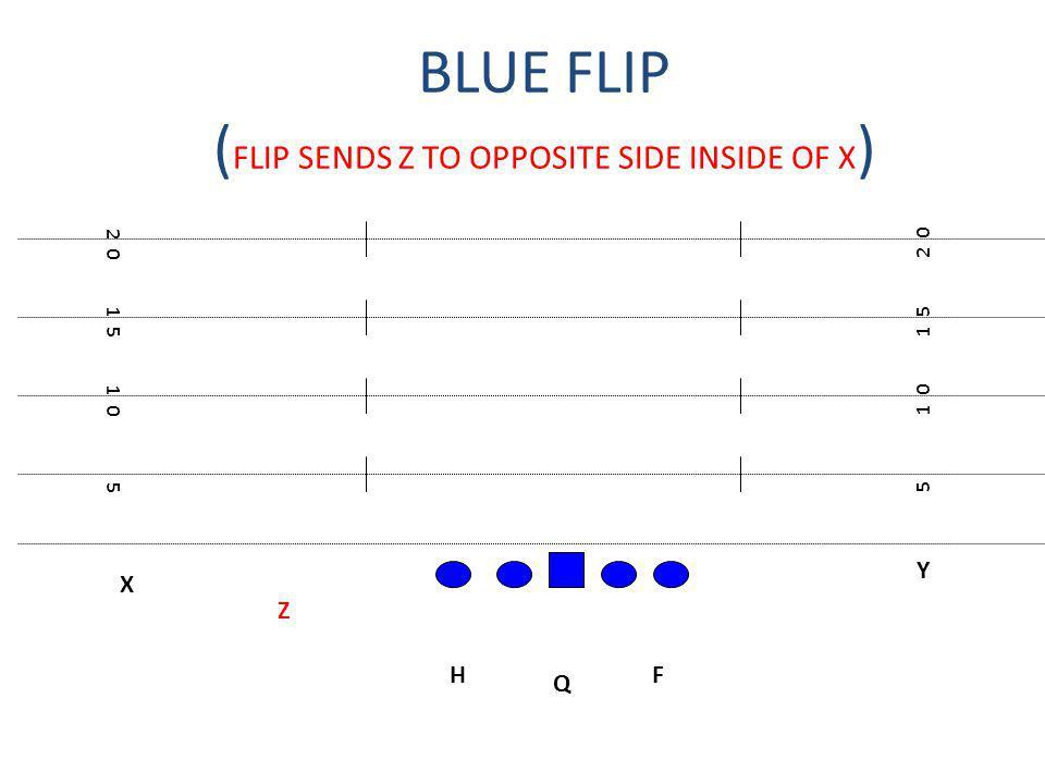 BLUE FLIP (FLIP SENDS Z TO OPPOSITE SIDE INSIDE OF X)