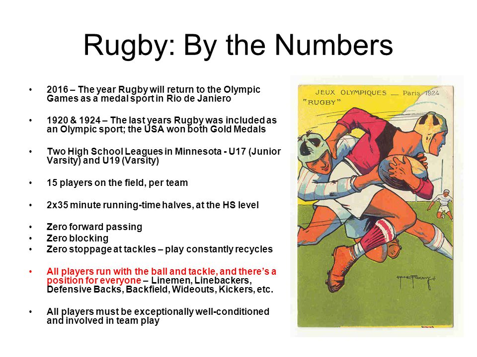 Rugby: By the Numbers 2016 – The year Rugby will return to the Olympic Games as a medal sport in Rio de Janiero.