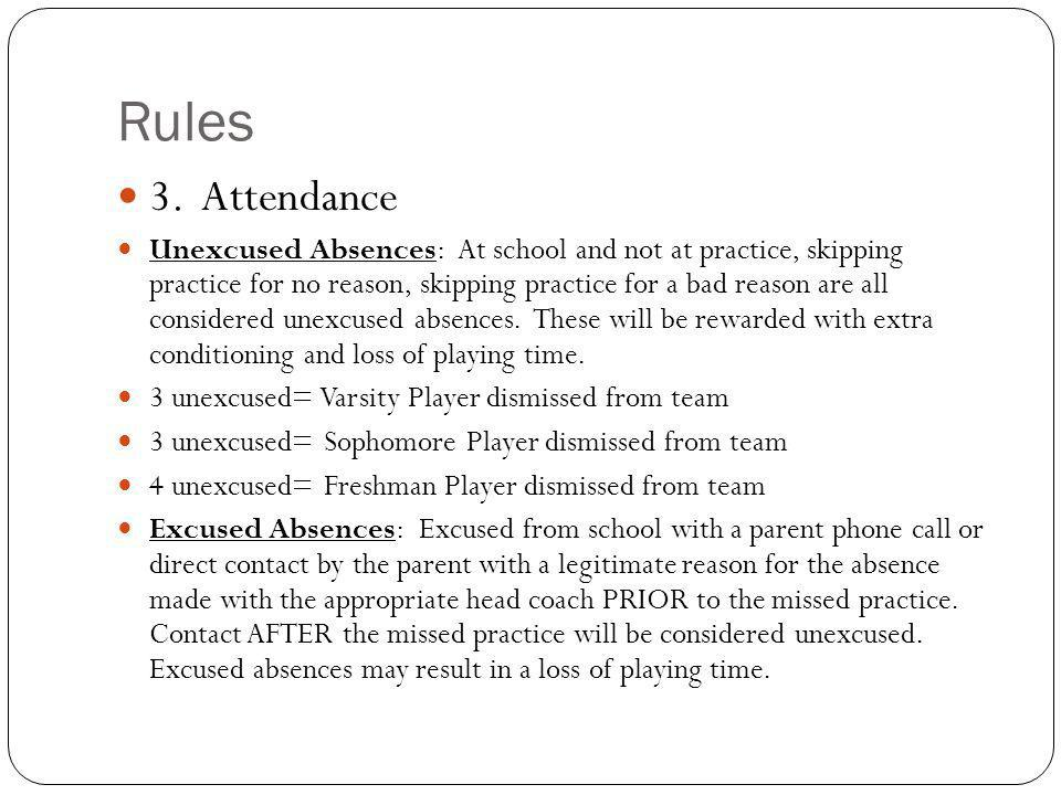 Rules 3. Attendance.