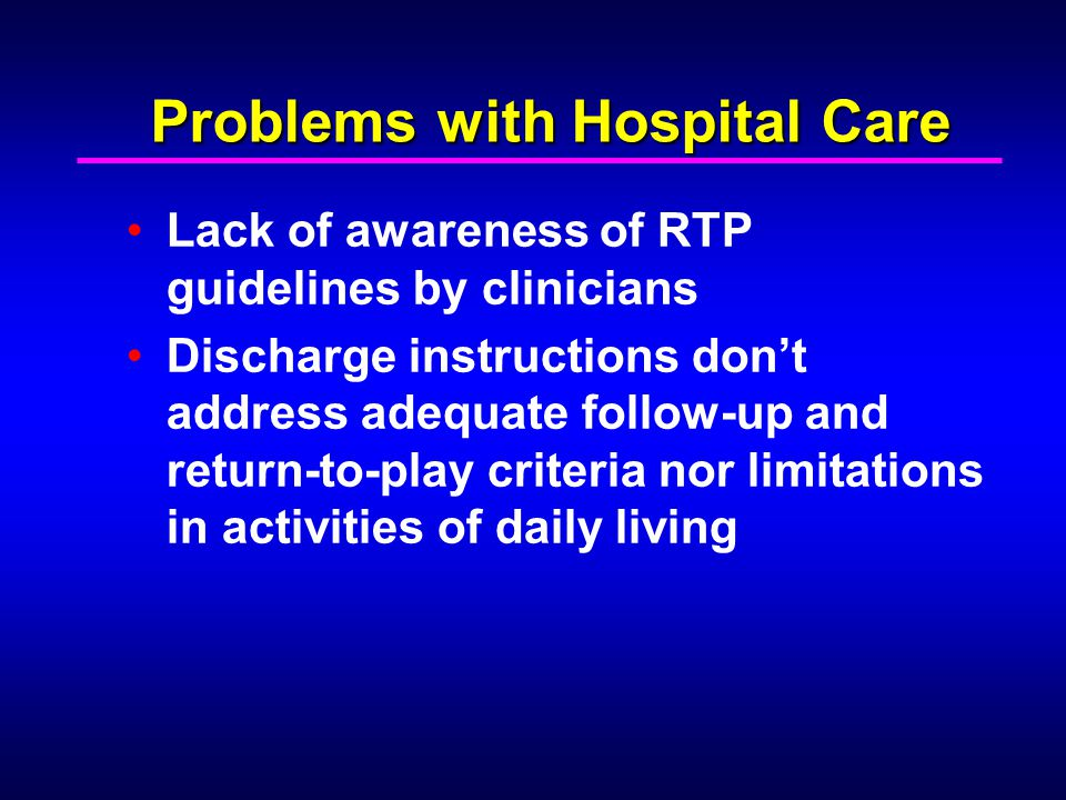 Problems with Hospital Care