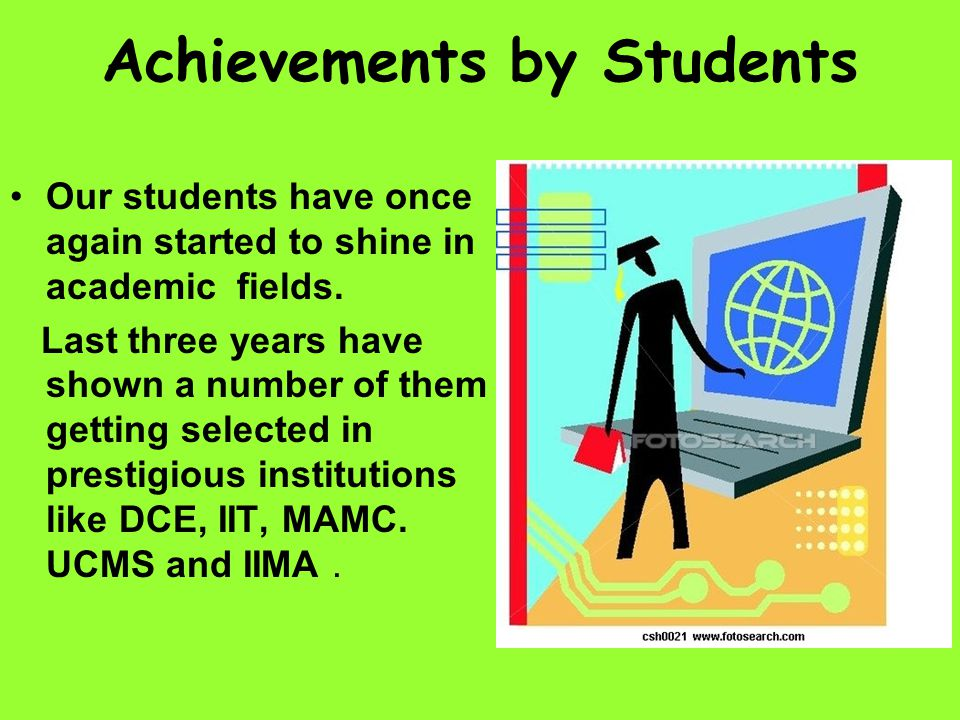 Achievements by Students