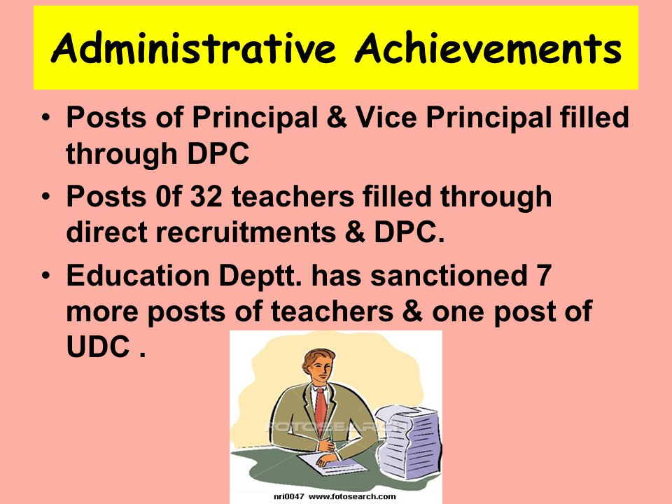 Administrative Achievements