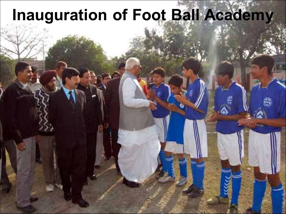 Inauguration of Foot Ball Academy