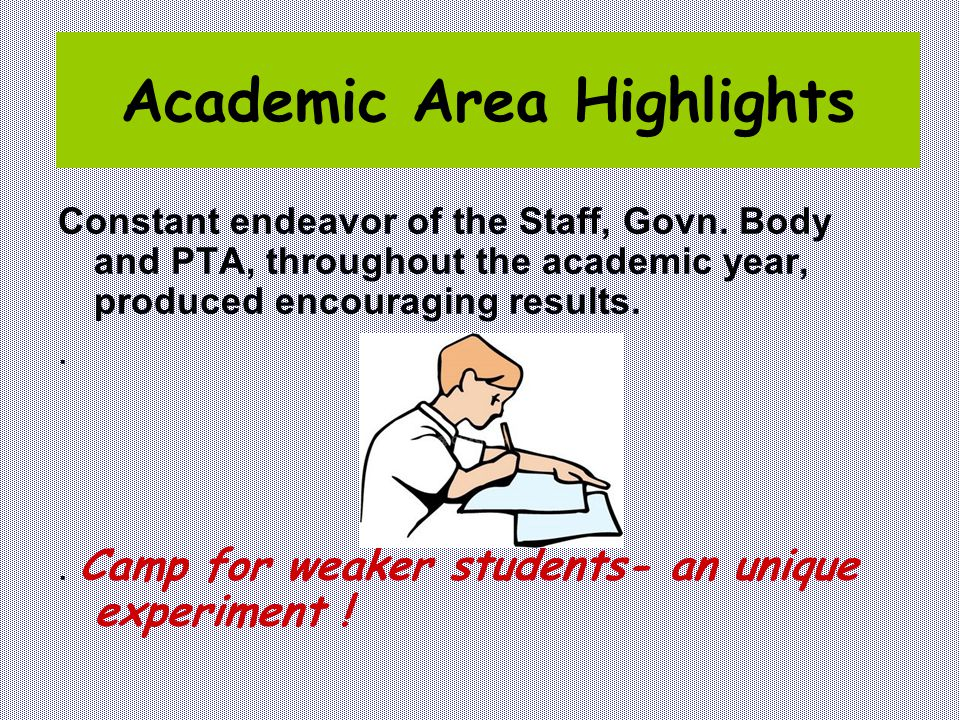 Academic Area Highlights