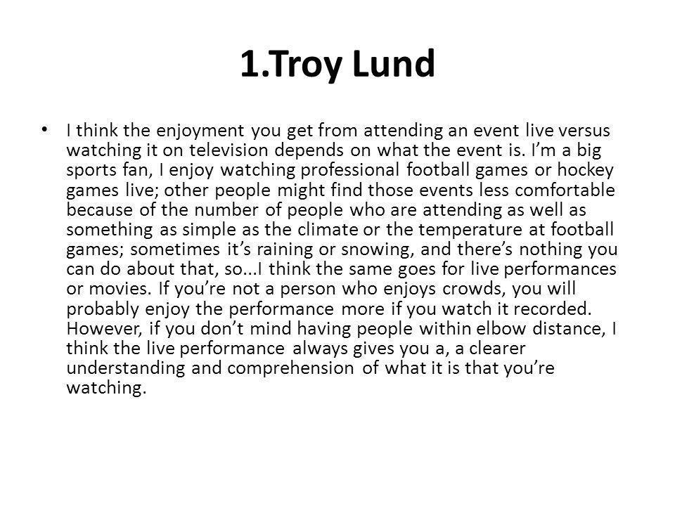 1.Troy Lund