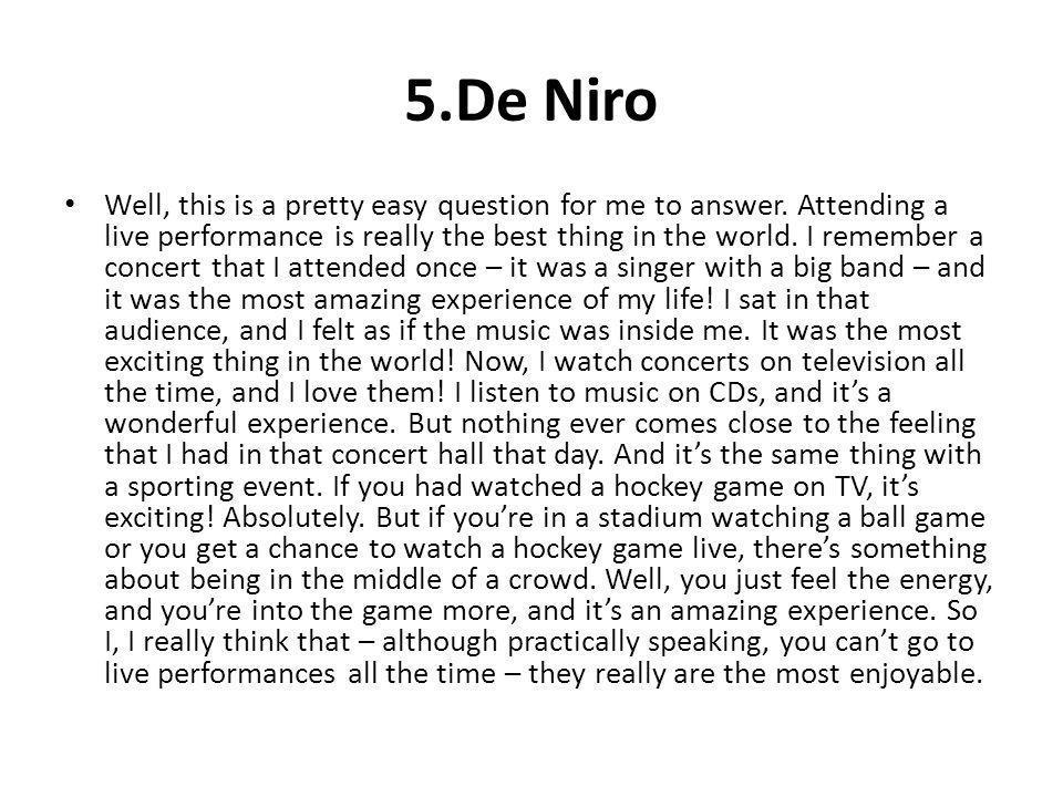 5.De Niro