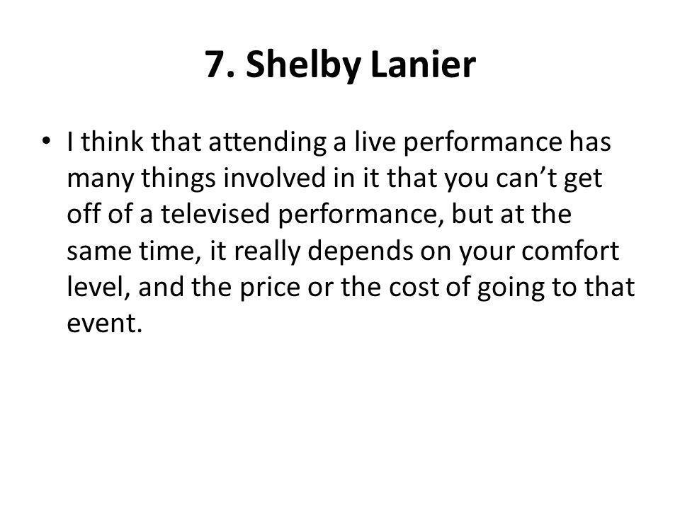 7. Shelby Lanier