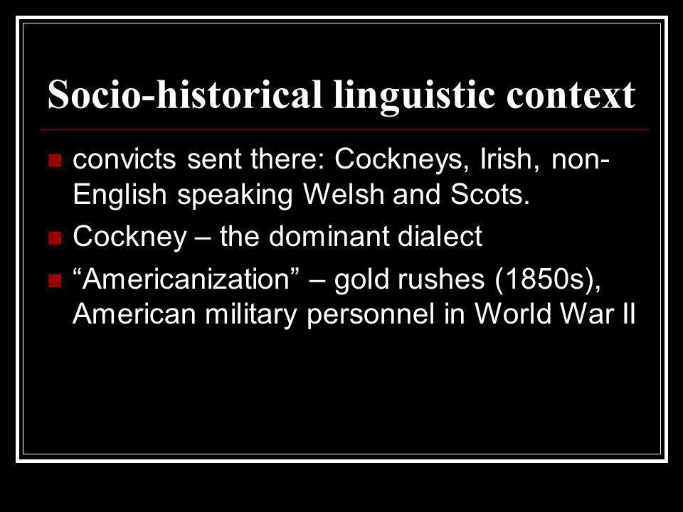 Socio-historical linguistic context