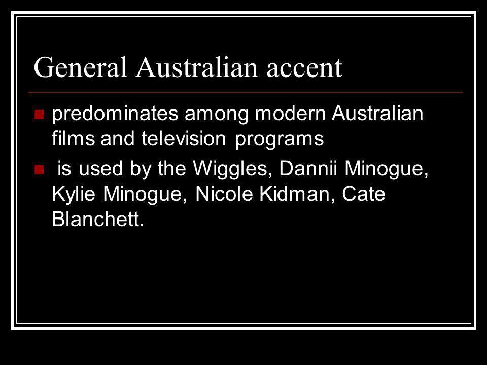 General Australian accent