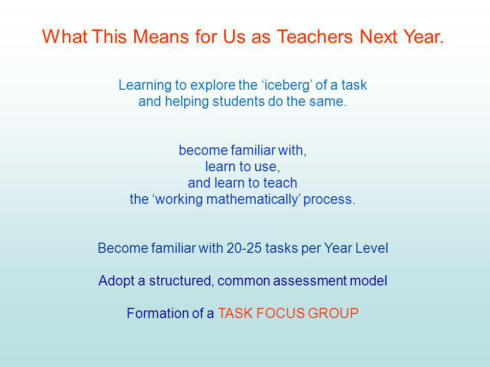 What This Means for Us as Teachers Next Year.