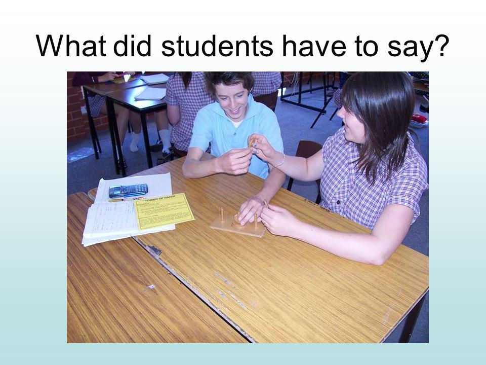 What did students have to say