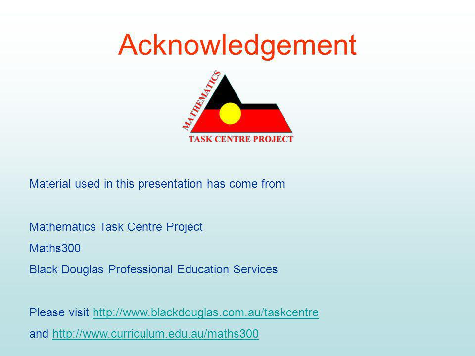 Acknowledgement Material used in this presentation has come from
