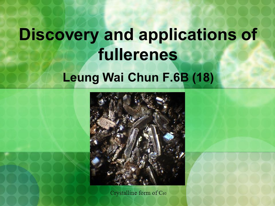 Discovery and applications of fullerenes