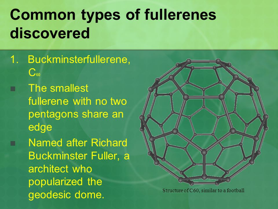 Common types of fullerenes discovered