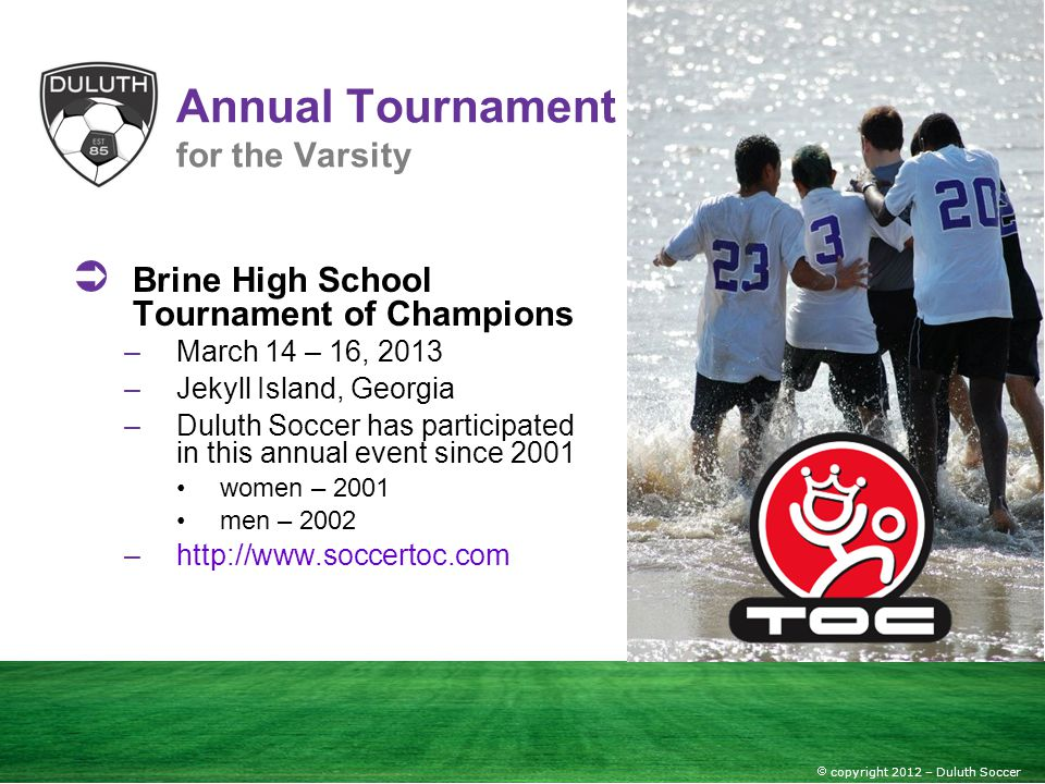 Annual Tournament for the Varsity