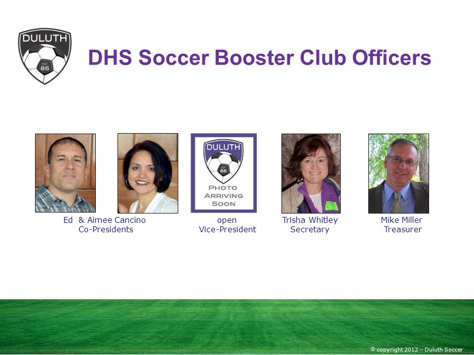DHS Soccer Booster Club Officers