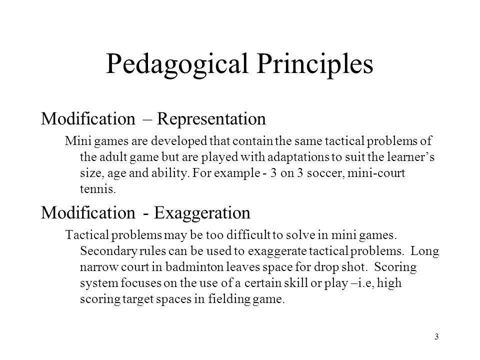 Pedagogical Principles