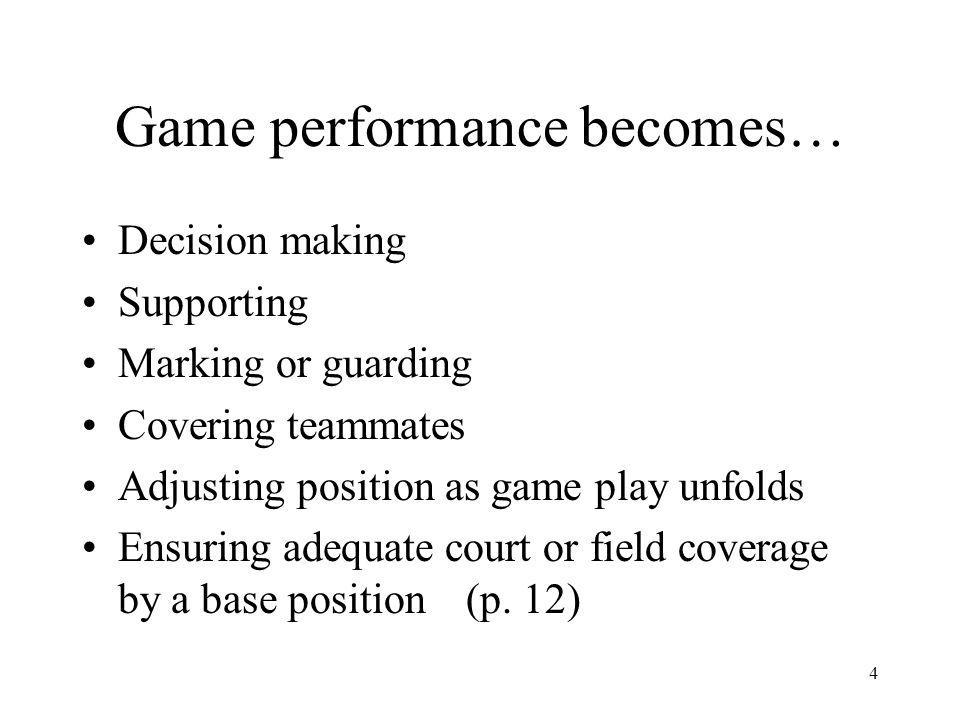 Game performance becomes…