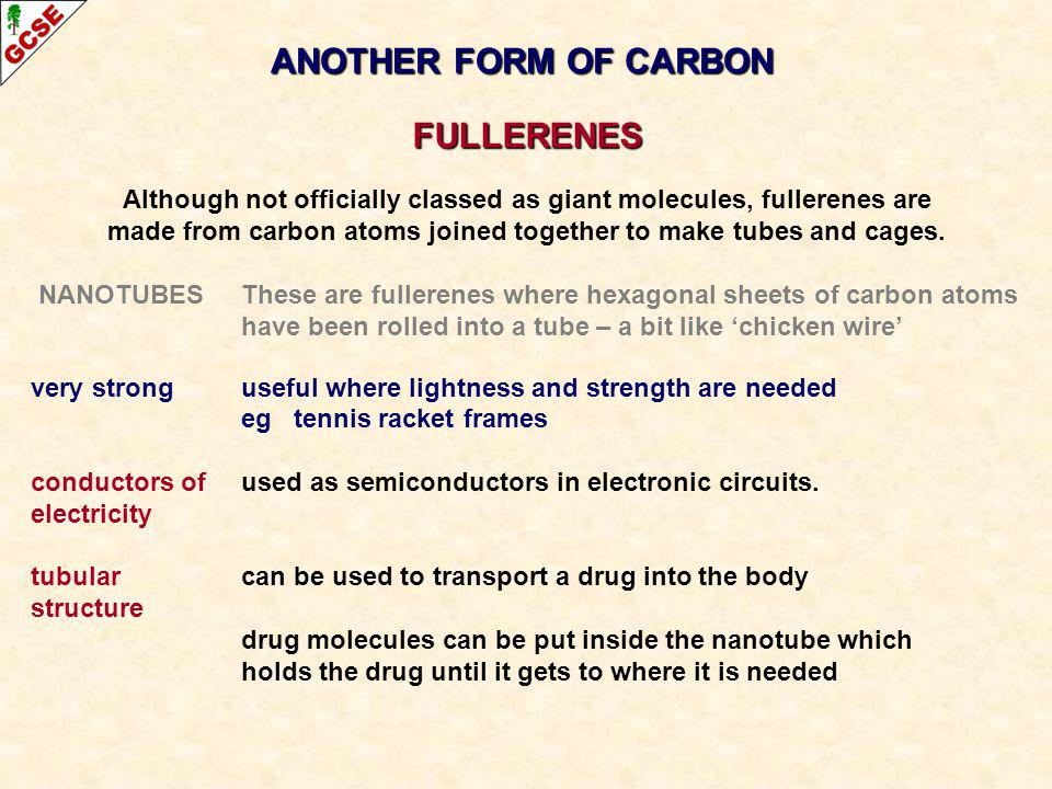ANOTHER FORM OF CARBON FULLERENES