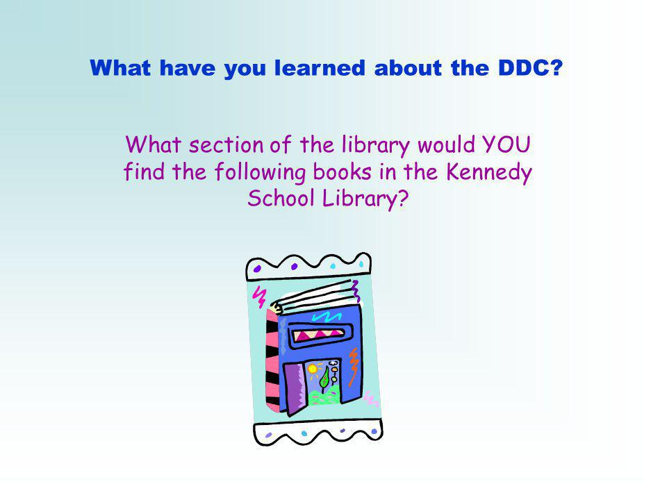 What have you learned about the DDC