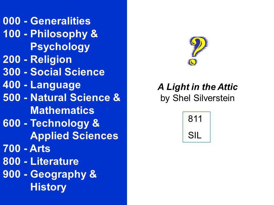 000 - Generalities 100 - Philosophy &