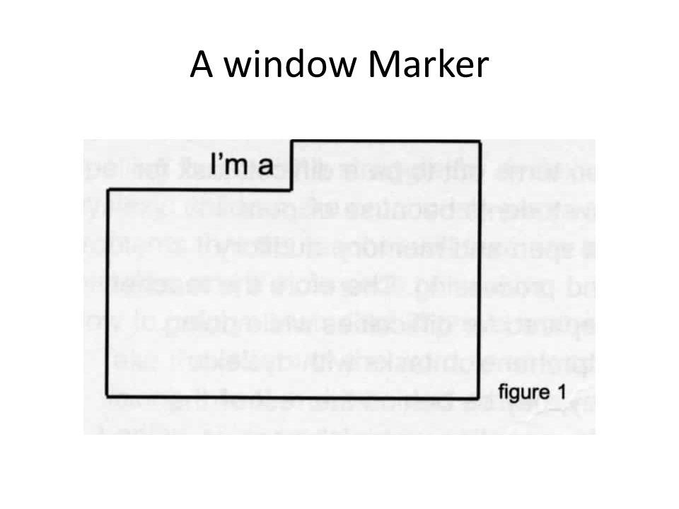 A window Marker