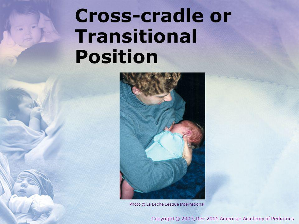 Cross-cradle or Transitional Position