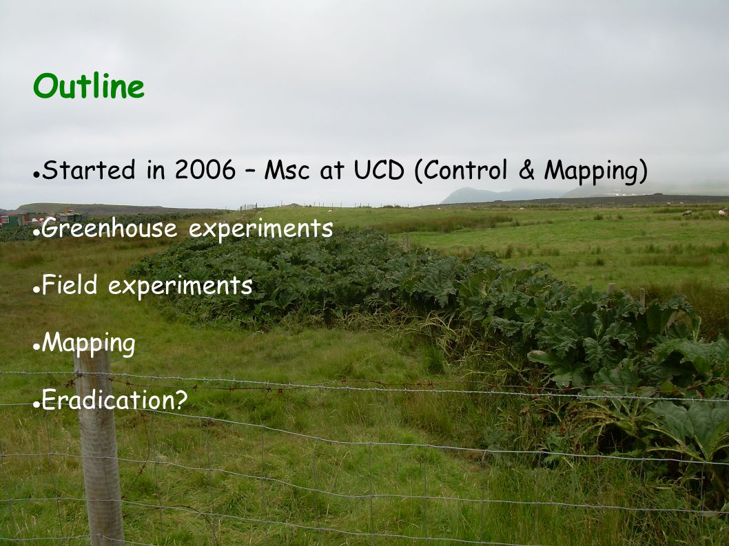Outline Started in 2006 – Msc at UCD (Control & Mapping)