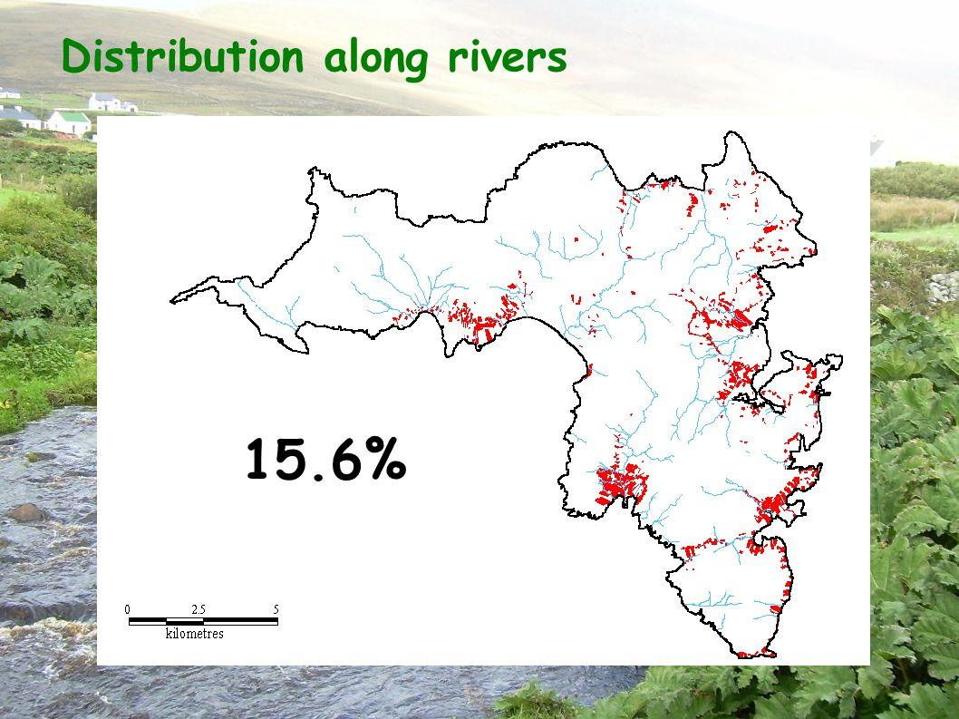 Distribution along rivers