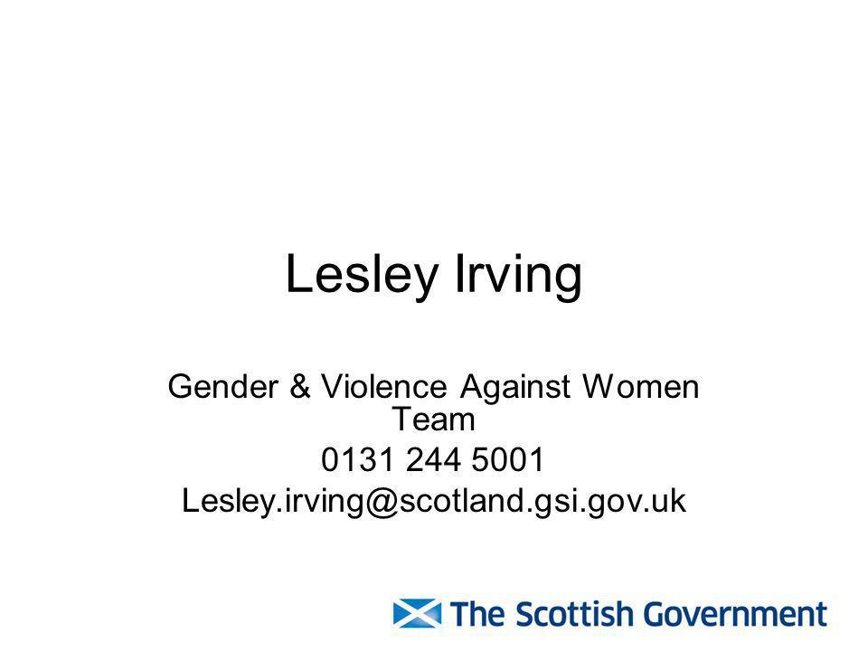 Gender & Violence Against Women Team
