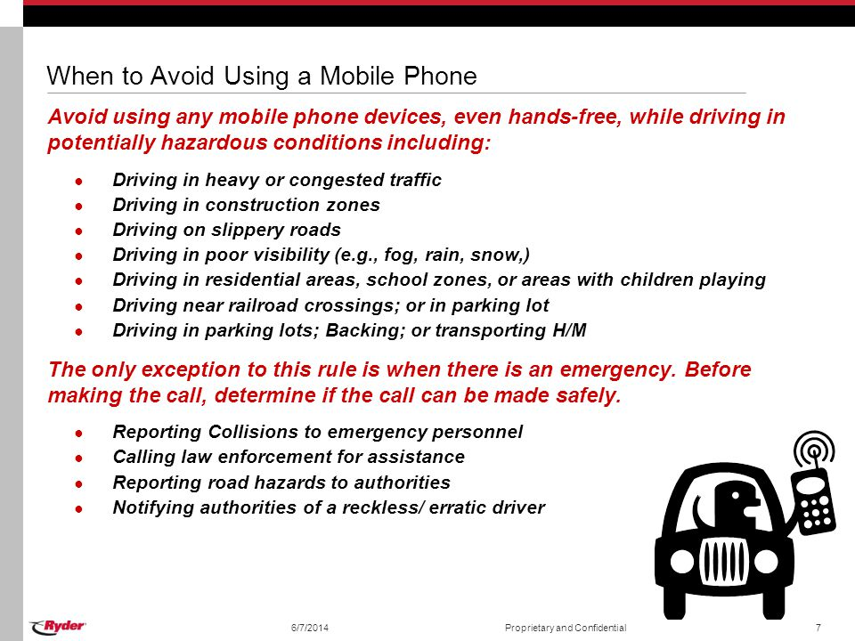 When to Avoid Using a Mobile Phone