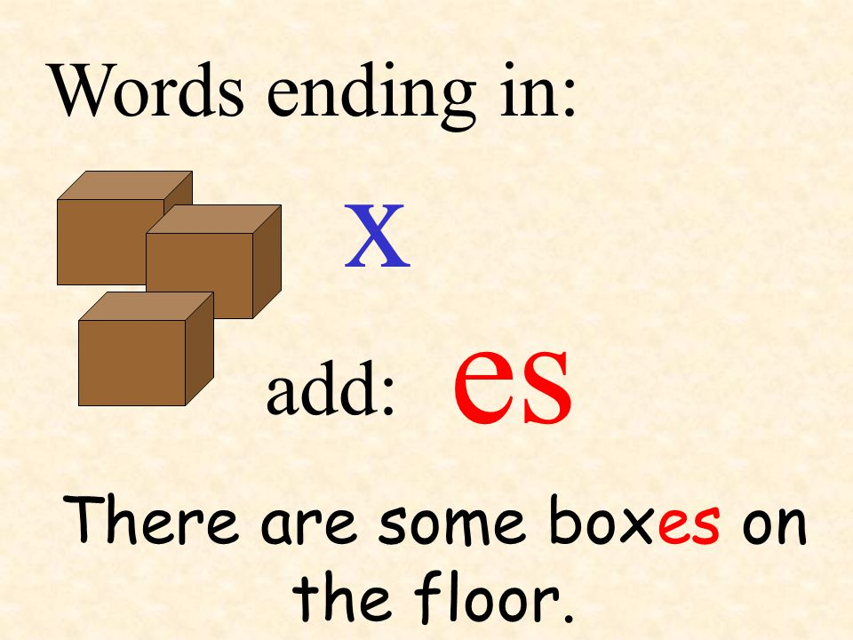 There are some boxes on the floor.