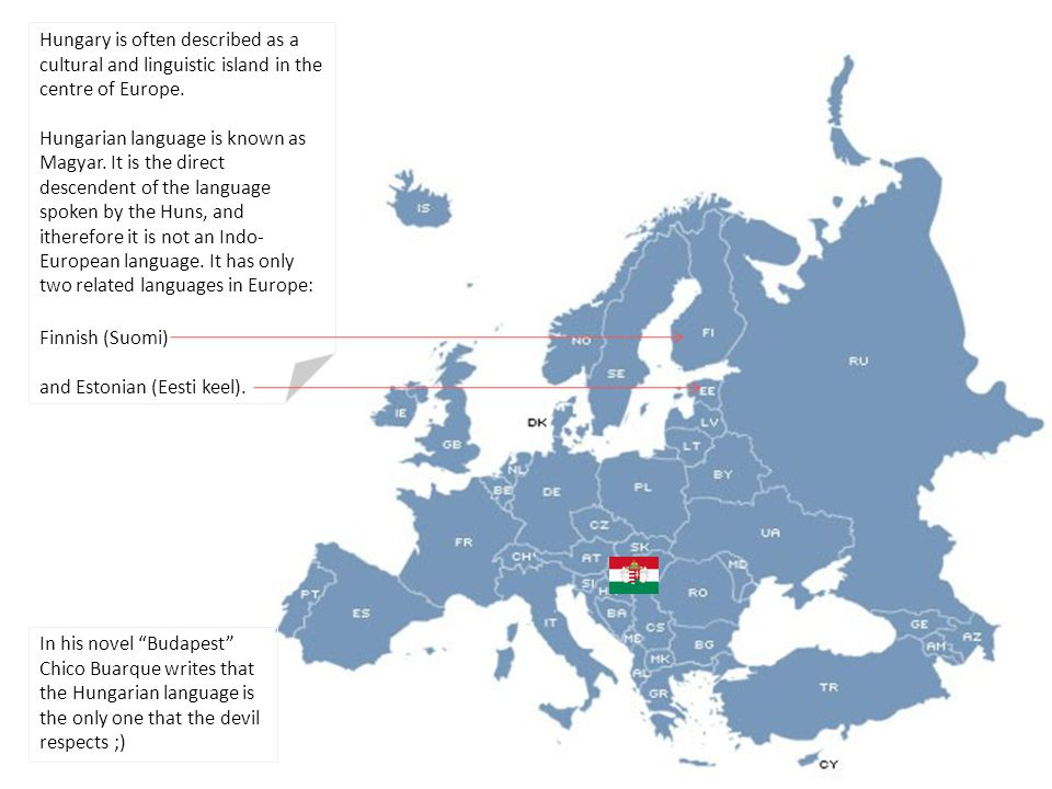 Hungary is often described as a cultural and linguistic island in the centre of Europe.