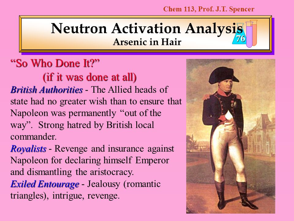 Neutron Activation Analysis Arsenic in Hair