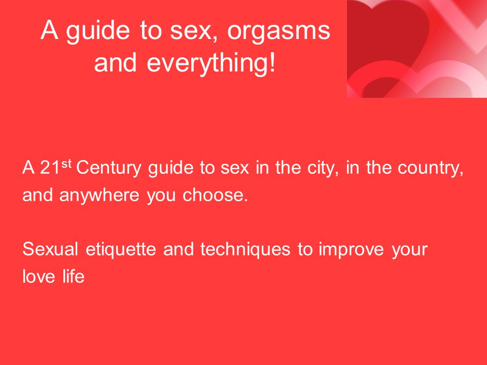 The good orgasm guide thank for