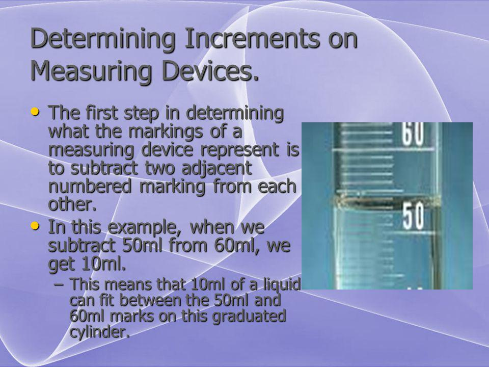 Determining Increments on Measuring Devices.