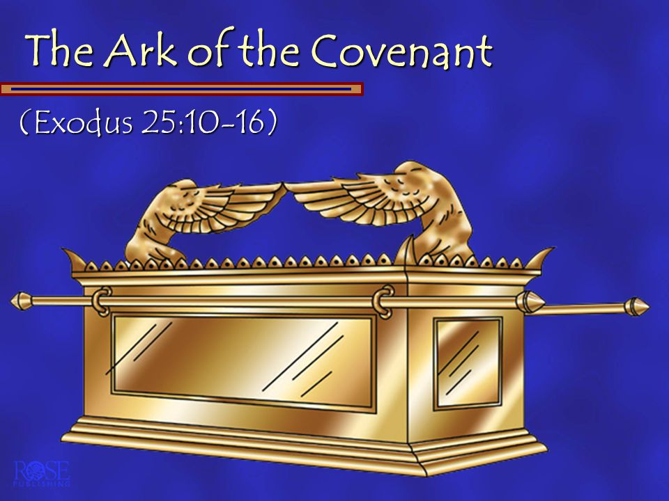 The Ark of the Covenant (Exodus 25:10-16)