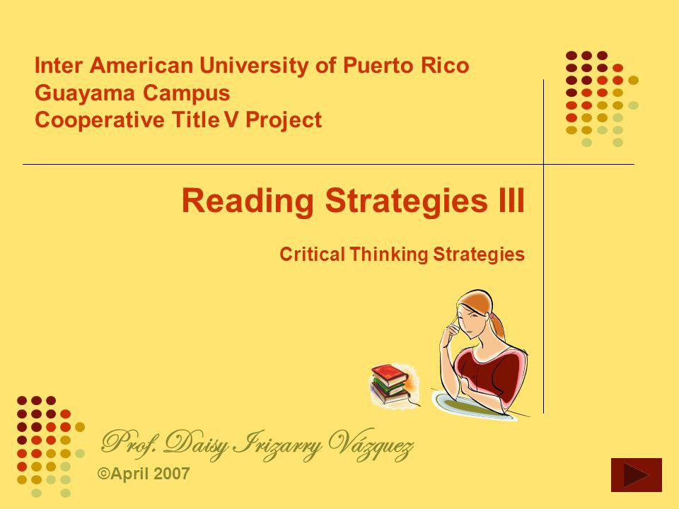critical thinking teaching strategies In english as first language contexts, clear requirement for critical thinking (ct)  has been listed in teaching guidelines and assessment criteria.