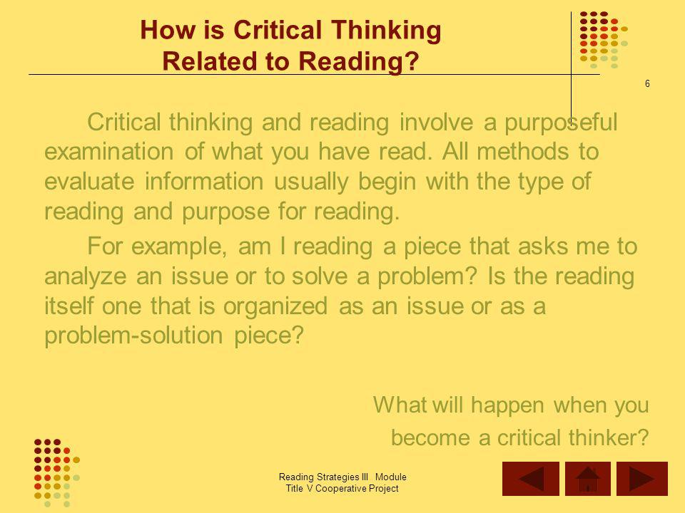 Critical Reading: What is Critical Reading, and why do I need to do it?