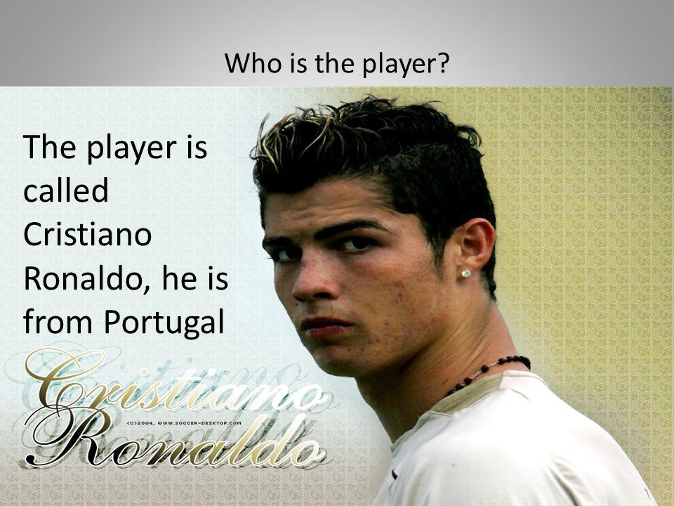 The player is called Cristiano