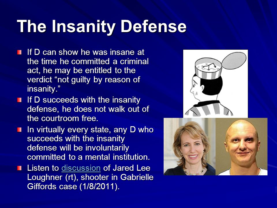 insanity plea View essay - fp u02a01-insanity pleadocx from psych 2330 at capella university running head: mental health: the insanity defense 1 mental health: the insanity defense donna c.