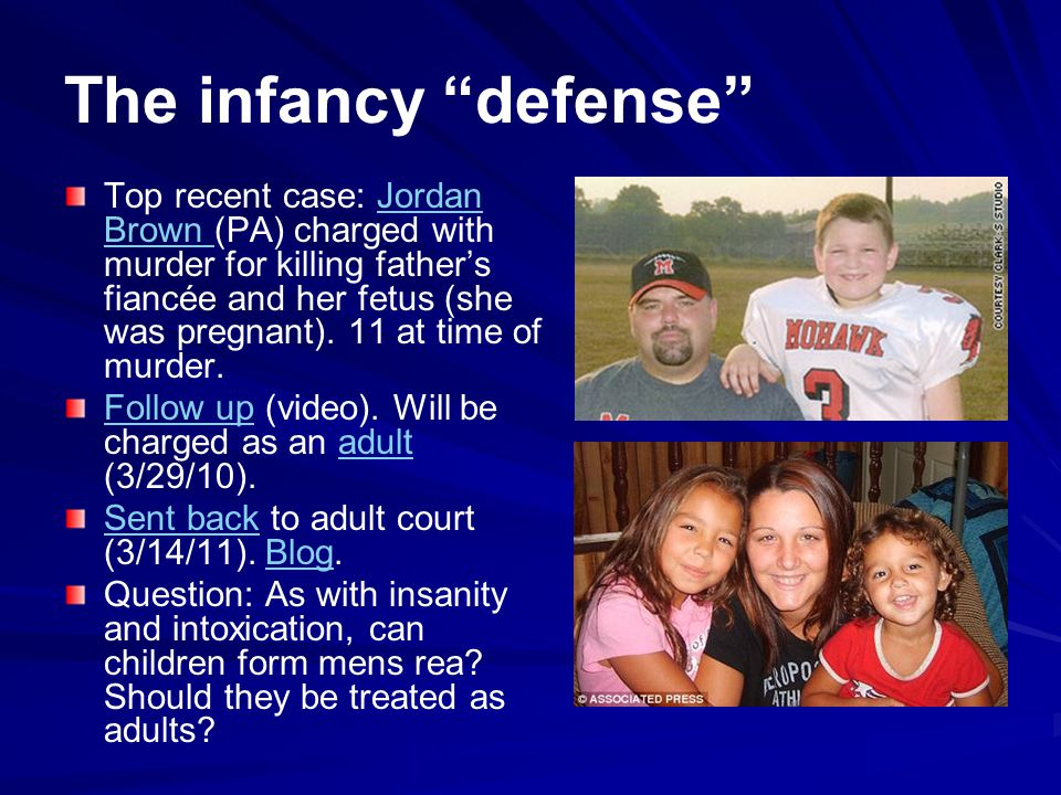 The infancy defense